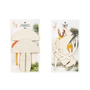Weihnachtsschmuck aus Holz - 2 Pilze...