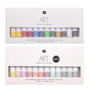 Acrylfarben-Set - Pastell 12 x 12 ml...