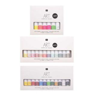 Acrylfarben-Set - 12 Pastell 12 ml +...