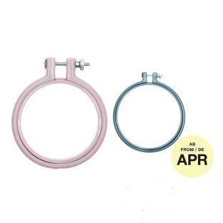 2 anneaux de broderie - lavande 7,6...