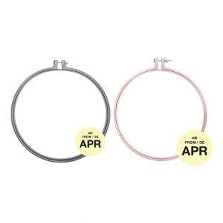 2 anneaux de broderie - gris 25,4 cm...