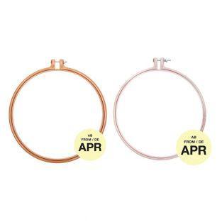 Stickerei-Ring - Senf - ø 22,8 cm +...