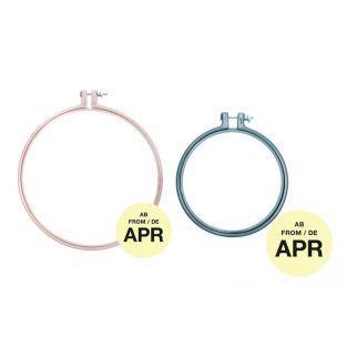 2 anneaux de broderie - mauve 20,3 cm...