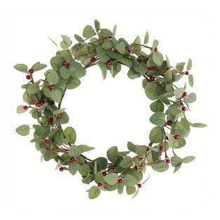 Wreath of red berries 25.5cm