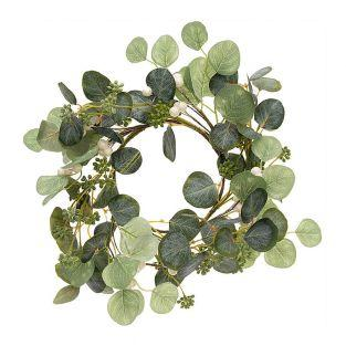 Wreath of white berries 17cm