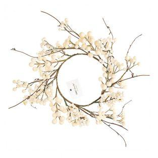 Wreath of white berries 17.5cm