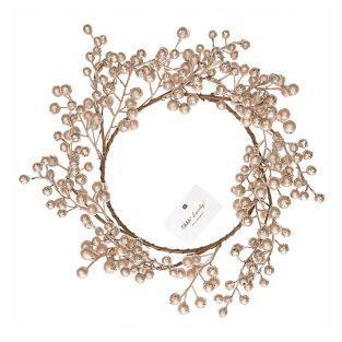 Corona de bayas doradas 17cm
