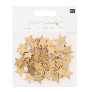 Golden wooden star confetti