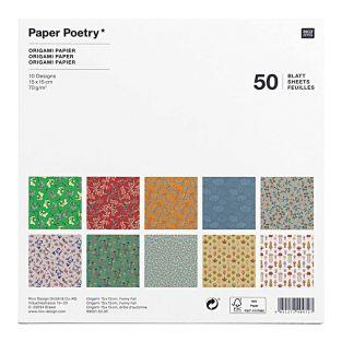 50 hojas de papel origami