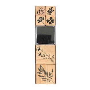 Set de 6 sellos de madera otoñales