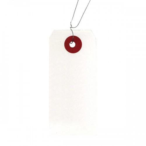 Etiquetas blancas con alambre x 60