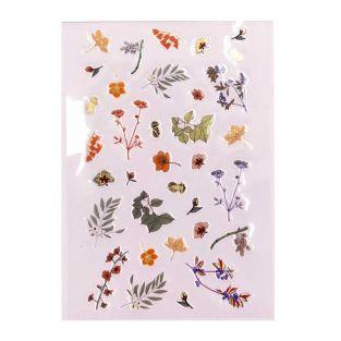 34 plant gel stickers