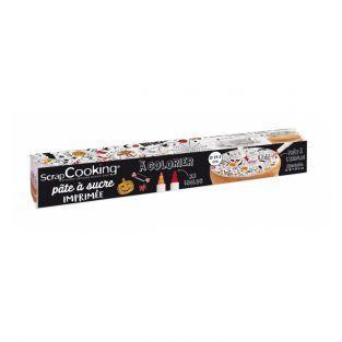 Pâte à sucre en rouleau à colorier -...