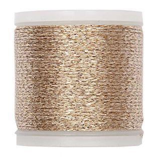 50m gold metallic mouliné thread