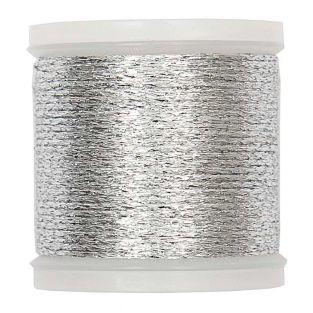 Fil mouliné 50 m métallique argenté