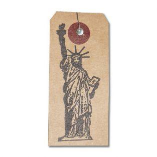 Etichette kraft + Timbro di legno...