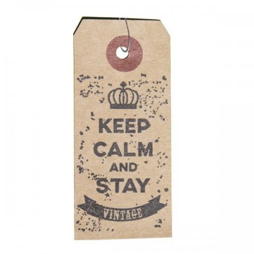 Etiquettes kraft + Tampon bois Vintage