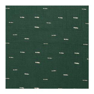 Green crumpled muslin 130X50cm