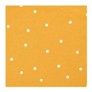 Tela mostaza lunares dorados 140X50cm