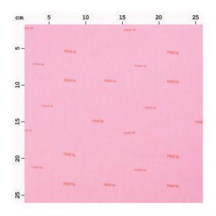 Toile rose 140 x 50 cm