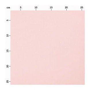 Loneta rosa lunares dorados 140X50cm