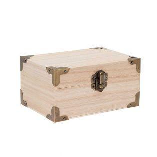 Coffret trésor en bois avec armatures...