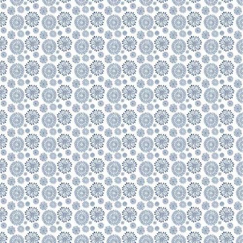 Papier artistique - Sweet Rosace bleu azur