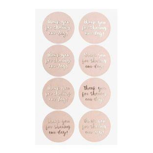 4 sheets of pink Our day stickers