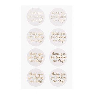 4 sheets of white Our day stickers