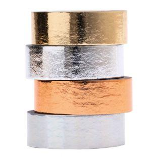 Juego de 4 cintas adhesivas metálicas