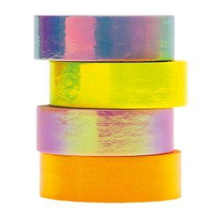 Set of 4 pastel iridescent masking tapes