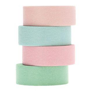 Set of 4 pastel glitter masking tapes