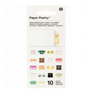 10 sheets of animal registry stickers