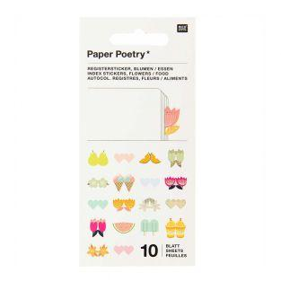 10 sheets of flower registry stickers