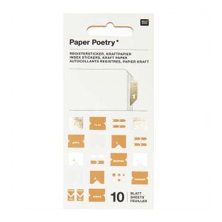 10 Blatt Kraftpapier Registeraufkleber