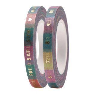 2 masking tapes fins date pastel