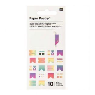 10 Blatt Pastellregisteraufkleber