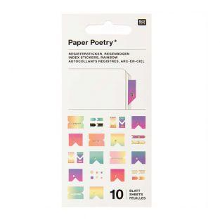 10 sheets of pastel register stickers
