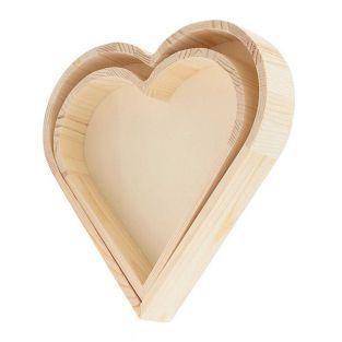 2 100% FSC heartwood trays