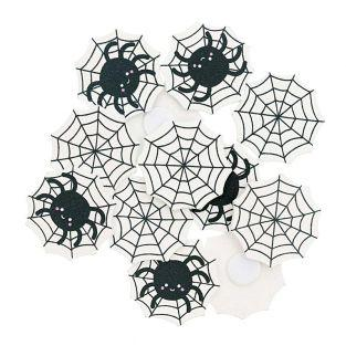 12 wooden spider web stickers