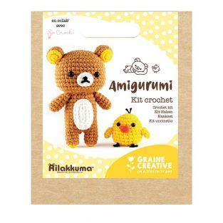 Mi caja de felpa de crochet - Rilakkuma
