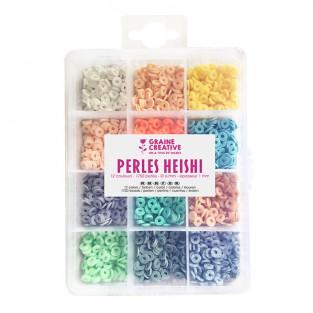 Boîte de perles Heishi - 12 couleurs...
