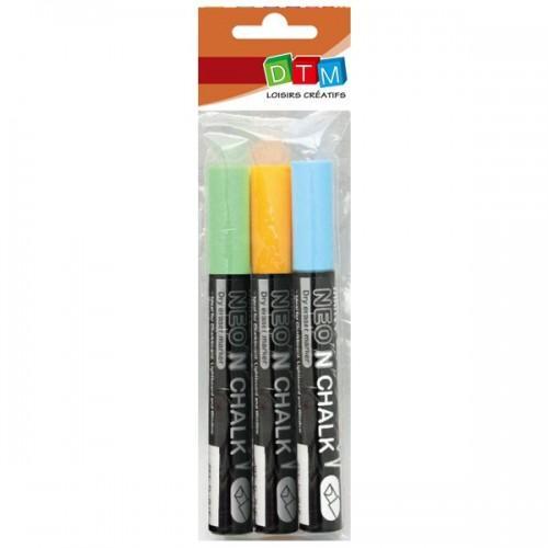 3chalk markers 6 mm - Blue-green-orange