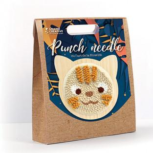 Punch needle box - Cat Ø 15 CM