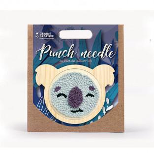 Coffret punch needle - Koala Ø 15 CM