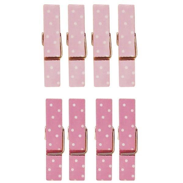 8 mini pinces linge rose 3 5 cm loisirs cr atifs youdoit. Black Bedroom Furniture Sets. Home Design Ideas