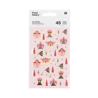 40 Santa Claus gel stickers