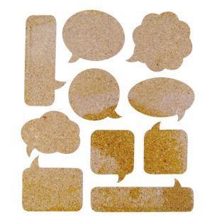 10 Cork Stickers - bubbles