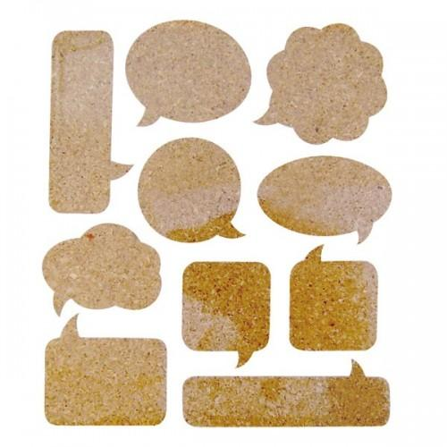 10 Cork Stickers - bubbles