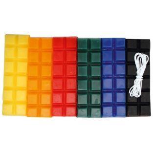 Cire à bougie 6 couleurs primaires 240 g + mèche